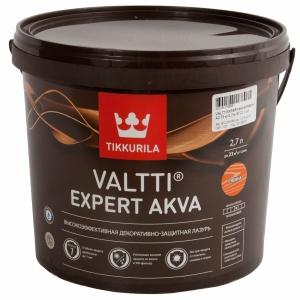 Декоративно-защитная лазурь TIKKURILA Valtti Expert Akva 2,7 л