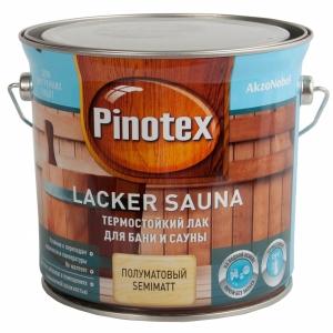 Лак для бань и саун Pinotex Lacker Sauna 20 полуматовый 2,7 л