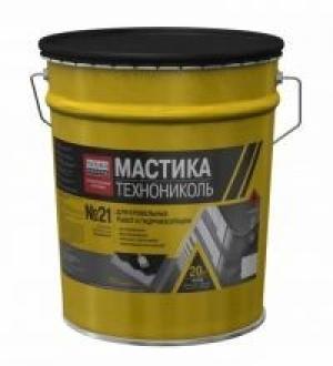 ТЕХНОНИКОЛЬ Мастика БПХ кровельная битумно-полимерная №21 Техномаст 20кг
