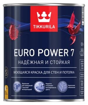 Тиккурила ЕВРО-7 матовая латексная краска база А 2,7 л