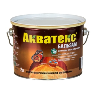 Акватекс-БАЛЬЗАМ натуральное масло для древесины 2 л
