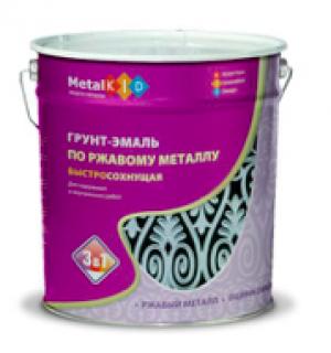 Грунт-эмаль по ржавчине MetalKID 3в1 быстросохнущая 10 кг