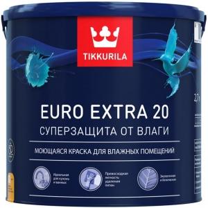 Тиккурила ЕВРО-20 полуматовая краска особо стойкая к мытью 2,7 л
