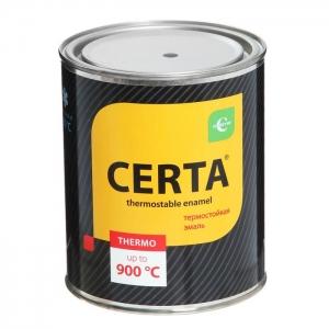 Эмаль термостойкая антикоррозионная Certa (КО-868) Черная 1000C 0,8 кг