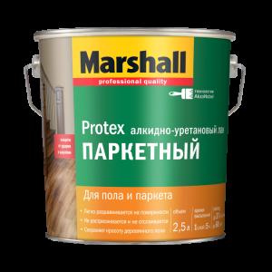Алкидно-уретановый паркетный лак  Marshall Protex глянцевый 2,5 л