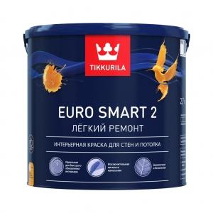 Тиккурила EURO SMART 2 глубокоматовая интерьерная краска 2,7 л