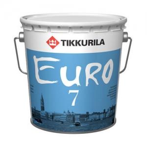 Краска латексная для стен и потолков Tikkurila Euro Power 7 Белая матовая, 9 л