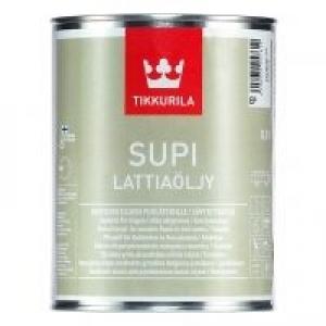 Масло для деревянных полов сауны TIKKURILA Supi Lattiaoljy Бесцветное    0,9 л