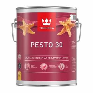 Краска алкидная TIKKURILA Euro Pesto 30 Белая полуматовая 2,7 л