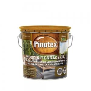 Масло для террас Пинотекс Pinotex Terrace&Wood Oil, бесцветное, 2,7 л
