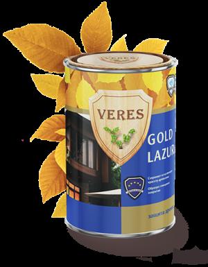 VERES GOLD LAZURA глянцевая лазурь 10 л