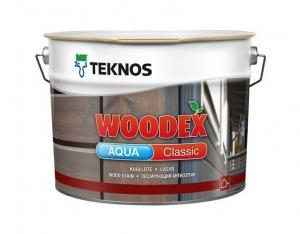 Лессирующий антисептик TEKNOS WOODEX AQUA CLASSIC Бесцветный 9 л