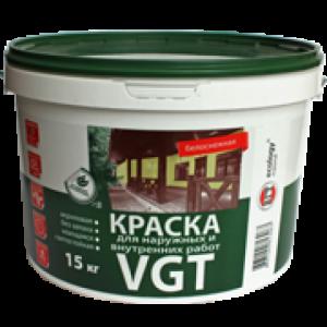 Краска ВД-АК-1180 для наружных и внутренних работ белоснежная, 15 кг