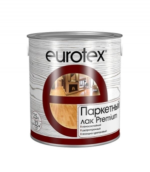 Лак паркетный EUROTEX PREMIUM полуматовый 2,5 л