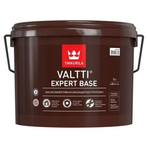 Биозащитная грунтовка TIKKURILA Valtti Expert Base Бесцветная, 9 л