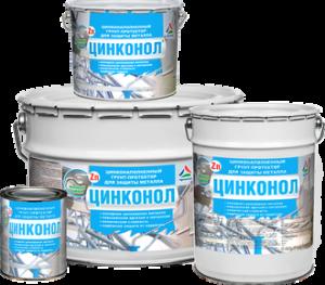Цинконол — цинконаполненный грунт-протектор для защиты металла 12 кг