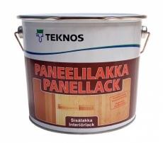 Интерьерный лак TEKNOS PANEELLLAKKA Бесцветный полуматовый 9 л