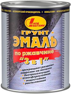 Грунт-эмаль по ржавчине «3 в 1», «Новбытхим», 3 л