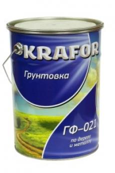 Грунтовка по дереву и металлу ГФ-021 KRAFOR 20 кг