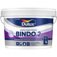 Краска водно-дисперсионная для потолков Dulux Bindo 2 Белая глубокоматовая10 л
