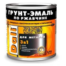Грунт-эмаль по ржавчине 3-в-1 Dali гладкая 0,75 л