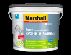 Краска для кухни и ванной Белая матовая Marshall Export 4,5 л
