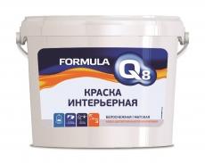 Краска интерьерная водно-дисперсионная Formula Q8 ПРЕСТИЖ белая, 13 кг