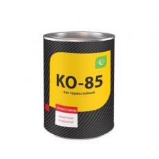 Лак для печей и каминов КО-85 по металлу, бетону, стеклу термост 250С бесцветный, 0,8  кг