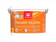 Силиконовая фасадная краска Tikkurila Facade Silicon - ФАСАД СИЛИКОН белая,  9 л
