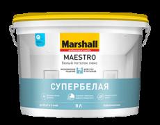 Краска для потолков Marshall Maestro Белый потолок люкс глубокоматовая 2,5 л