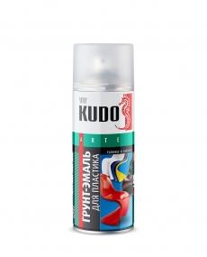 Грунт-эмаль аэрозольная для пластика Kudo RAL 3005 Бордовая 520 мл