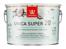 Тиккурила Уника Супер уретано-алкидный лак полуматовый 9 л