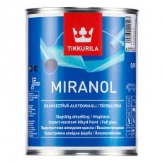 Эмаль алкидная TIKKURILA MIRANOL Белая высокоглянцевая 0,9 л