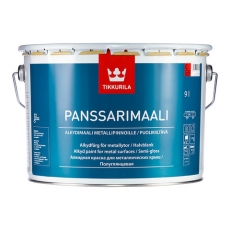 Краска для крыш Tikkurila Panssarimaali (Панссаримаали) полуглянцевая 9 л