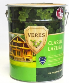 VERES CLASSIC LAZURA полуматовая лазурь 10 л