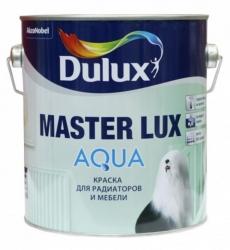 Краска для мебели и радиаторов Dulux Master Lux Aqua 70 Белая глянцевая 2,5 л