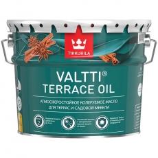 Масло для террас и садовой мебели Тиккурила Валтти Террас Ойл (Tikkurila Valtti Terrace oil),  9 л