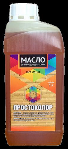 Масло льняное для древесины, 1 л