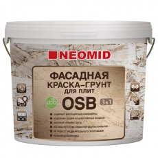 Фасадная Краска-Грунт для плит OSB Proff 3 в 1, NEOMID 14кг