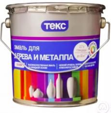 Алкидная эмаль для дерева и металла Текс Профи 2,7 л