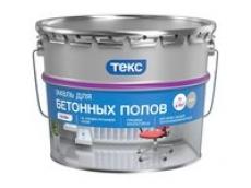 Эмаль для бетонных полов Текс ПРОФИ серая, 9 л
