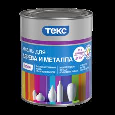 Алкидная эмаль для дерева и металла Текс Профи 0,9 л