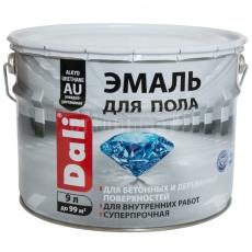 Эмаль для бетонных и деревянных полов алкидно-уретановая RAL 7040 цвет серый, Dali, 9 л