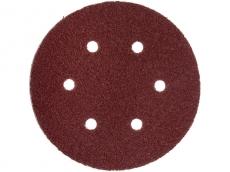 Круг абразивный перфорированный для липучки Кедр D 125 мм, Набор 5 шт