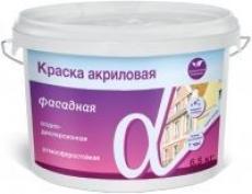 Краска фасадная акриловая Альфа, 14 кг