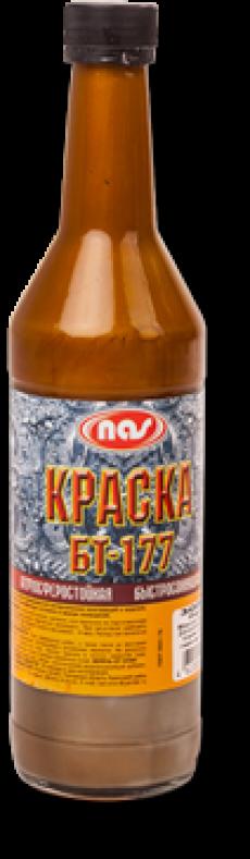"Краска БТ-177 ""Серебрянка"", ""Бронзовая"", ""Золотистая"" 0,5 л"