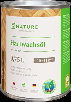 Масло с твердым воском 255 Hartwachsöl для деревянных и паркетных полов 0,75 л
