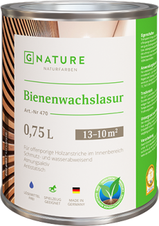 Лазурь с пчелиным воском 470 Bienenwachslasur 2,5 л