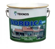 Краска водоразбавляемая для домов Teknos Nordica Eko Белая глянцевая 2,7 л