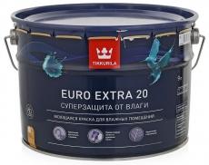 Краска для влажных помещений Tikkurila Euro Extra 20 полуматовая 9 л